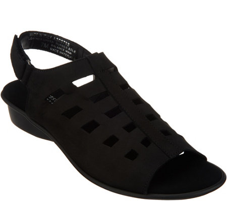 Sesto Meucci Cutout Leather Sandals - Elita