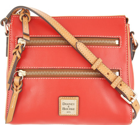 Dooney & Bourke Smooth Leather Triple Zip Crossbody - Peyton