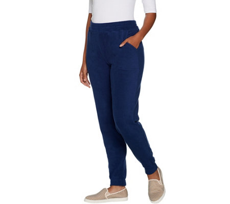 """As Is"" Cuddl Duds Fleecewear Stretch Jogger Pants"
