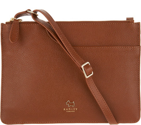 """As Is"" RADLEY London Pocket Leather Medium Crossbody Handbag"