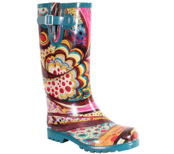 Nomad Puddles Turquoise Monet Rubber Rain Boots - A320885