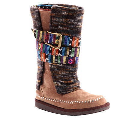 MUK LUKS Nikki Belt-Wrapped Mid-Calf Boots