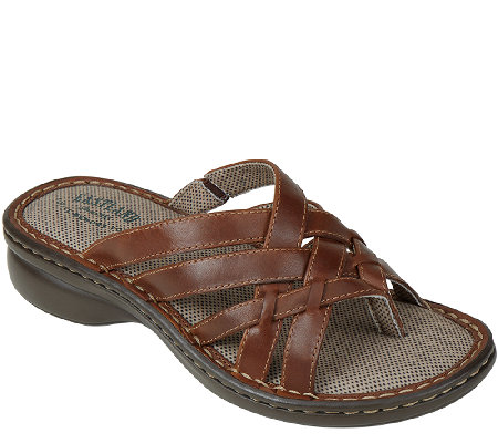 Eastland Leather Thong Sandals - Lila