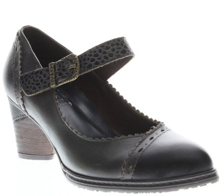 L'Artiste by Spring Step Leather Mary Janes -Ostentatious