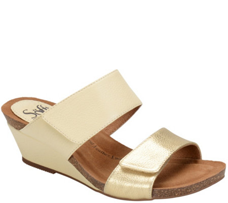 Sofft Leather Slide Sandals - Vangie