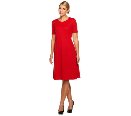 Susan Graver Ponte Knit Swing Dress