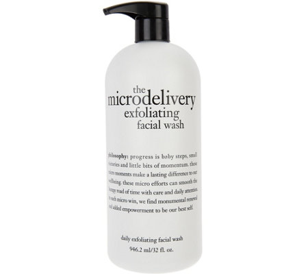 philosophy super-size microdelivery exfoliating wash, 32 oz.