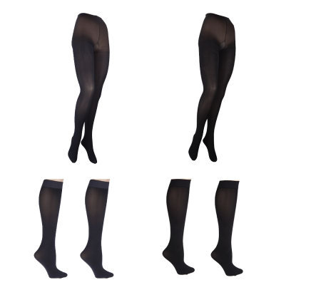 Legacy Touch of Satin Two Tights & Two Trouser Socks Set