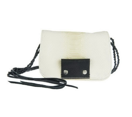 Kelsi Dagger Leather Spencer Embossed Python Crossbody