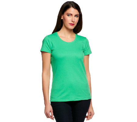 Isaac Mizrahi Live! Essentials Scoop Neck T-Shirt