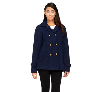 Linea by Louis Dell'Olio Button Front Swing Coat - A257286