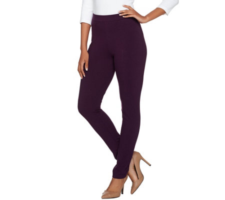 Susan Graver Weekend Cotton Spandex Leggings - Regular