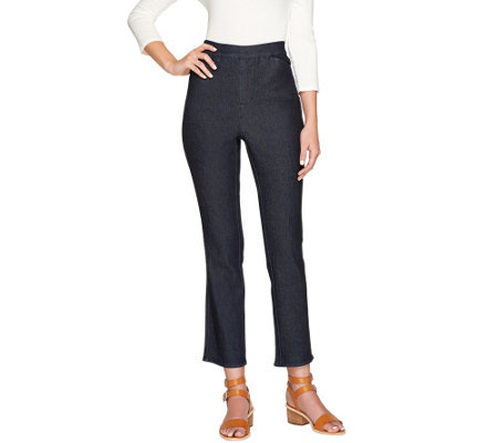 Liz Claiborne New York Petite Hepburn Pull-on Slim Leg Jeans