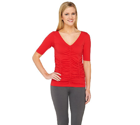Legacy Conceal It Solid Ruched Half Sleeve Tee