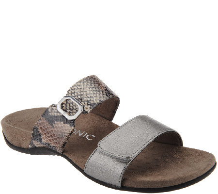 Vionic Orthotic Double Strap Slide Sandals - Camila