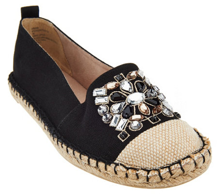 White Mountain Slip-on Espadrille w/ Jewels - Attentive