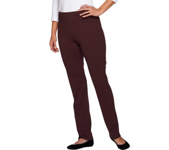 Isaac Mizrahi Live! Regular Ponte Side Zip Straight Leg Pants - A266786