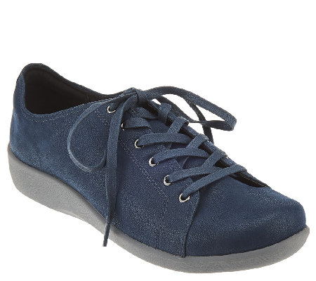 Clarks Cloud Stepper Lace-up Sneakers - Sillian Glory