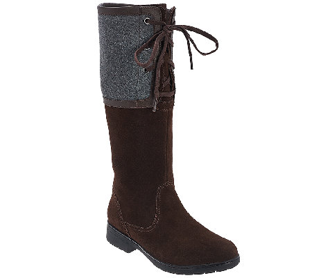 Clarks Suede Medium Calf Tall Shaft Boots - Marrian Anya