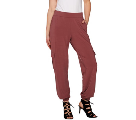 Lisa Rinna Collection Petite Banded Bottom Pants