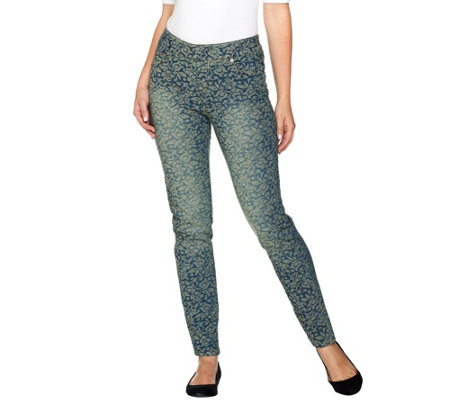 Women with Control Petite My Wonder Denim Jacquard Jean