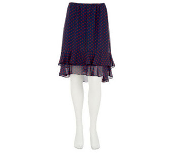 """As Is"" Kelly by Clinton Kelly Dot Tiered Flounce Skirt - A282686"