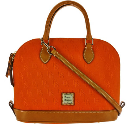 """As Is"" Dooney & Bourke Blended Shadow Zip Zip Satchel"