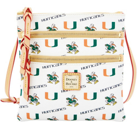 Dooney & Bourke NCAA University of Miami Zip Crossbody