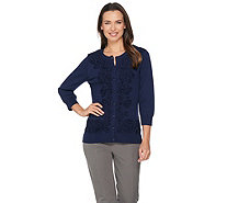 Isaac Mizrahi Live! 3/4 Sleeve Engineered Ruffle Cardigan - A287086
