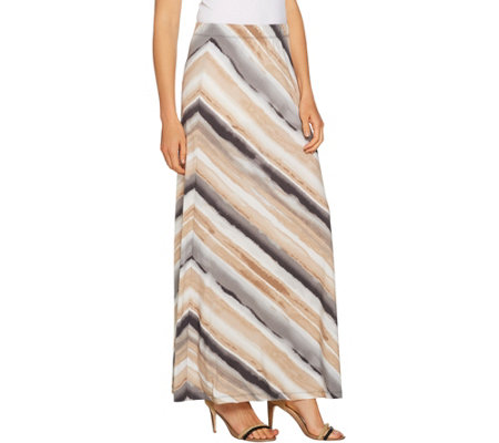 Susan Graver Printed Liquid Knit Maxi Skirt - Petite - Page 1 ...