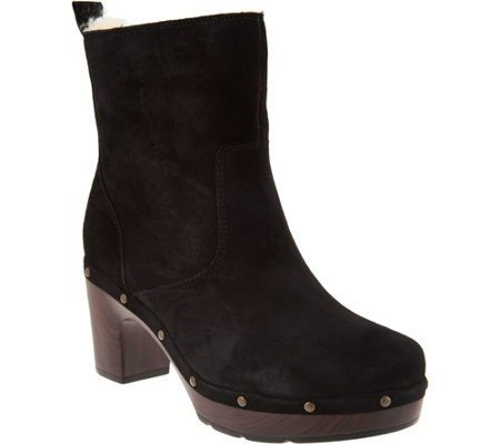 Quot As Is Quot Clarks Artisan Suede Clog Boots Ledella Abby