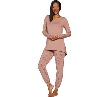 AnyBody Loungewear Cozy Knit Novelty Pajama Set - A296086