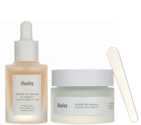 Huxley Secret of Sahara Oil Essence & Cream Duo by Glow Recipe