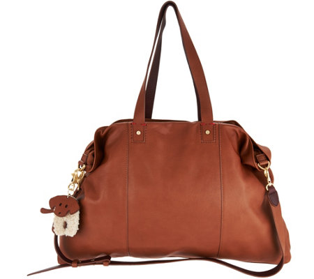 ED Ellen DeGeneres Leather Levitt Tote Handbag