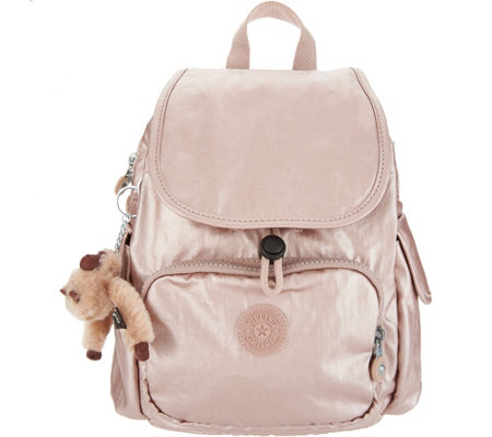 Kipling Nylon Foldover Backpack -Ravier