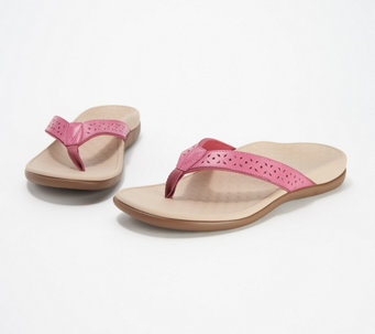 Vionic Leather Thong Sandals - Tide Anniversary - A306186