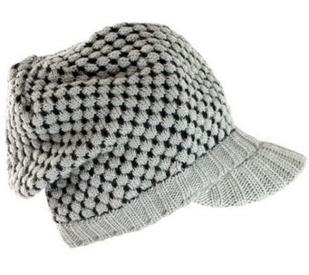 Nirvanna Tuck-Knit Visor with Fleece Lining - A326286