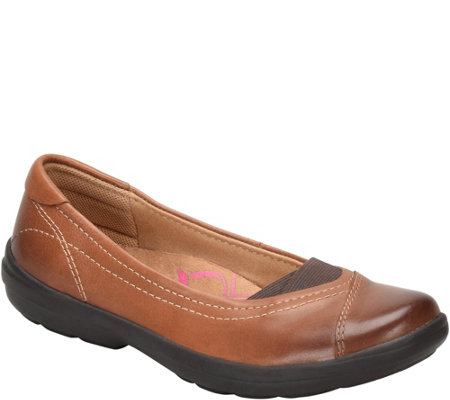 Comfortiva Leather Slip On Flats - Renee