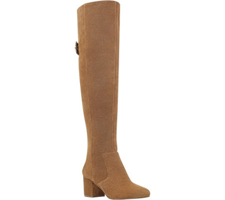 Nine West Leather Over The Knee Boots - Queddy