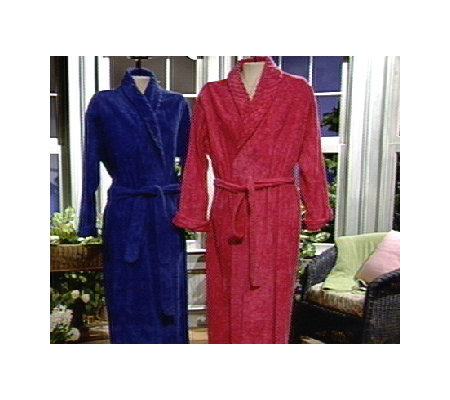 Stan Herman Chenille Shawl Collar Wrap Robe