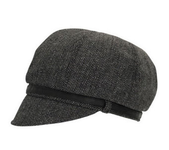 San Diego Hat Co. Women's Belted Newsboy Cap - A192187