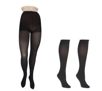 Legacy Legwear Heavenly Heather Tight & Two Pair of Knee High Set - A216987