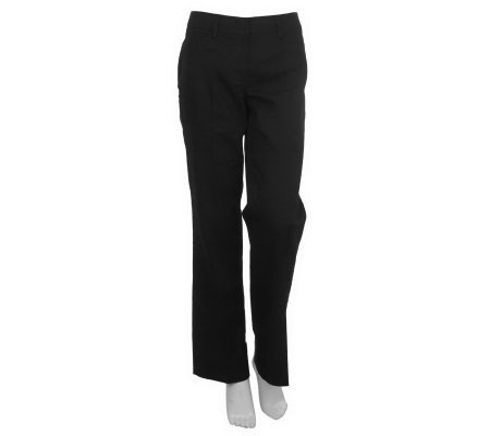 Kelly by Clinton Kelly Stretch Twill Flat Front Trouser Pants