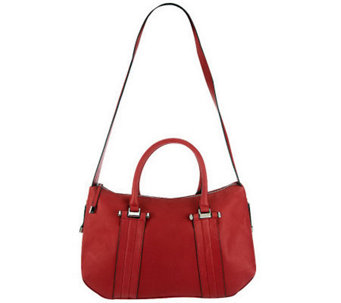 B.Makowsky Glove Leather Zip Top Convertible Satchel - A228987