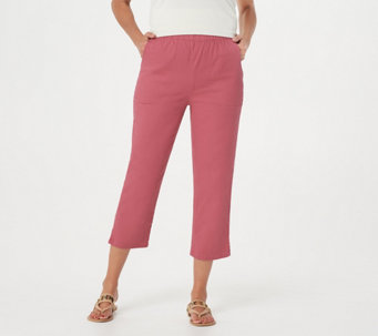 """As Is"" Denim & Co. Original Waist Stretch Crop Pants with Side Pockets - A236187"