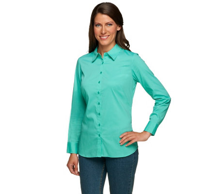Liz Claiborne New York Button Front Shirt with Gathered Back