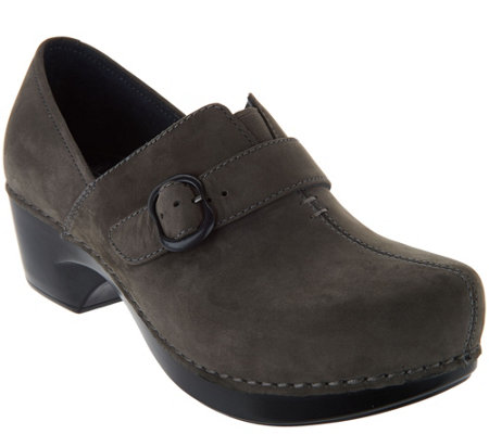 Dansko Leather/Nubuck Stain Resistant Slip-on Shoes - Tamara