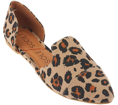Sole Society Two-piece Printed Flats - Mara