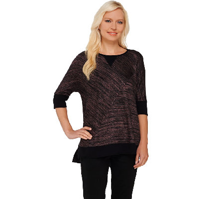 Lisa Rinna Collection Dolman Sleeve Sweater Knit Top