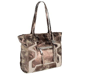 """As Is"" Aimee Kestenberg Pebble Leather Tote with Front Zipper Pocket - A267087"
